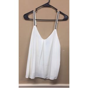 1.State Embroidered Strap V neck Camisole Blouse